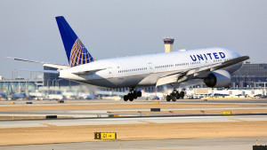 Chicago, Illinois, USA - March 19, 2017: United Airlines Boeing 777-200 passenger jet airliner arriving for a landing at O'Hare International Airport in Chicago, Illinois, USA.; Shutterstock ID 607365620; Purchase Order: ccg